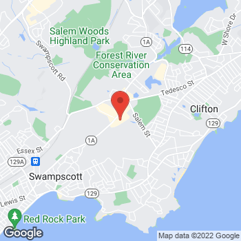 Map of Panera Bread at 433 Paradise Rd, Swampscott, MA 01907