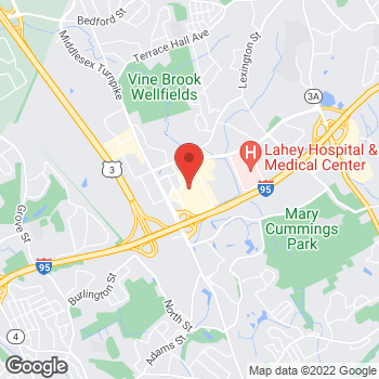 Map of Michael Kors at 75 Middlesex Turnpike, Burlington, MA 01803