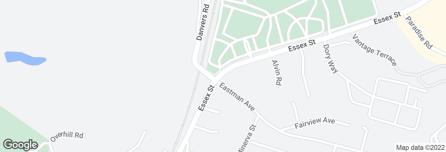 Map of Essex St @ Eastman Ave and surrounding area