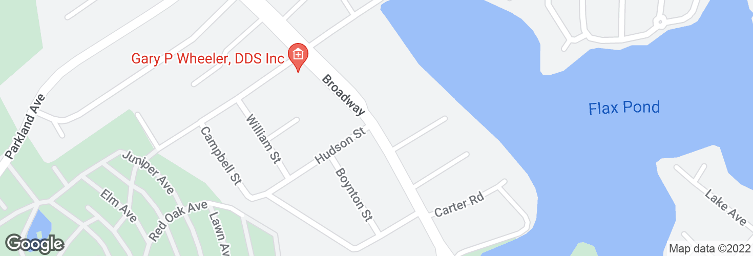 Map of Broadway opp Hudson St and surrounding area