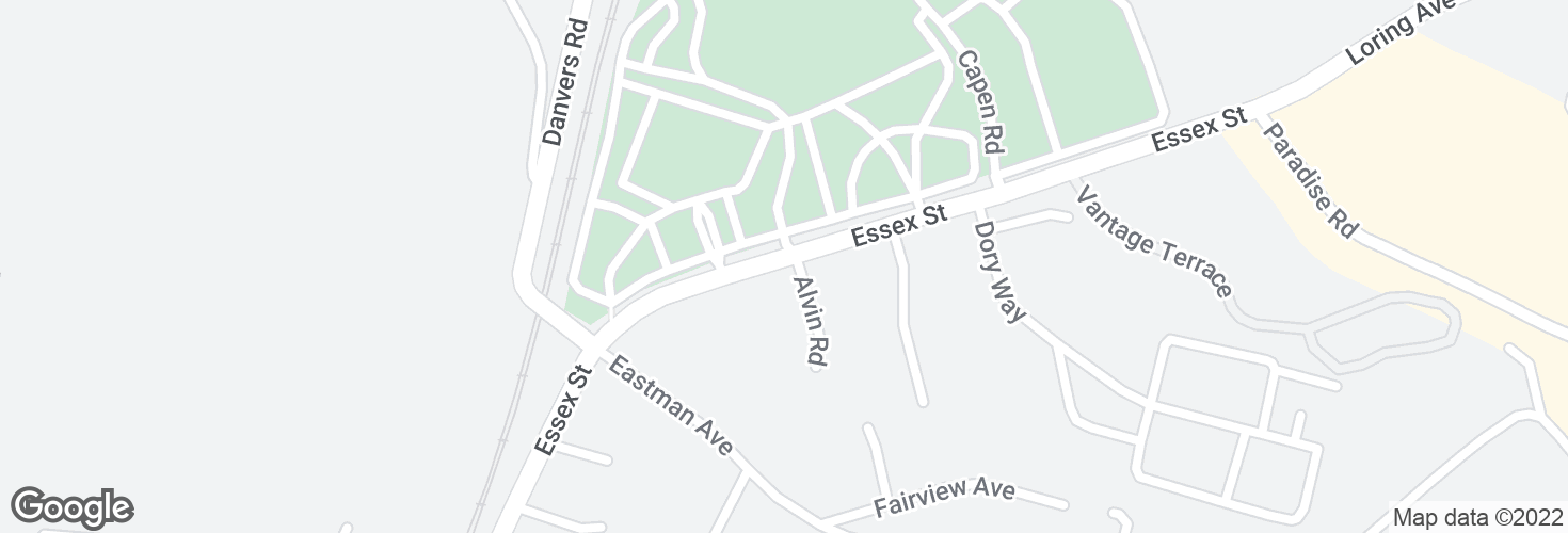 Map of Essex St @ Alvin Rd and surrounding area