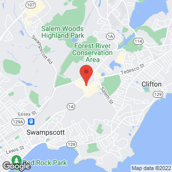Map of Bertucci's Italian Restaurant at 450 Paradise Road, Swampscott, MA 01907