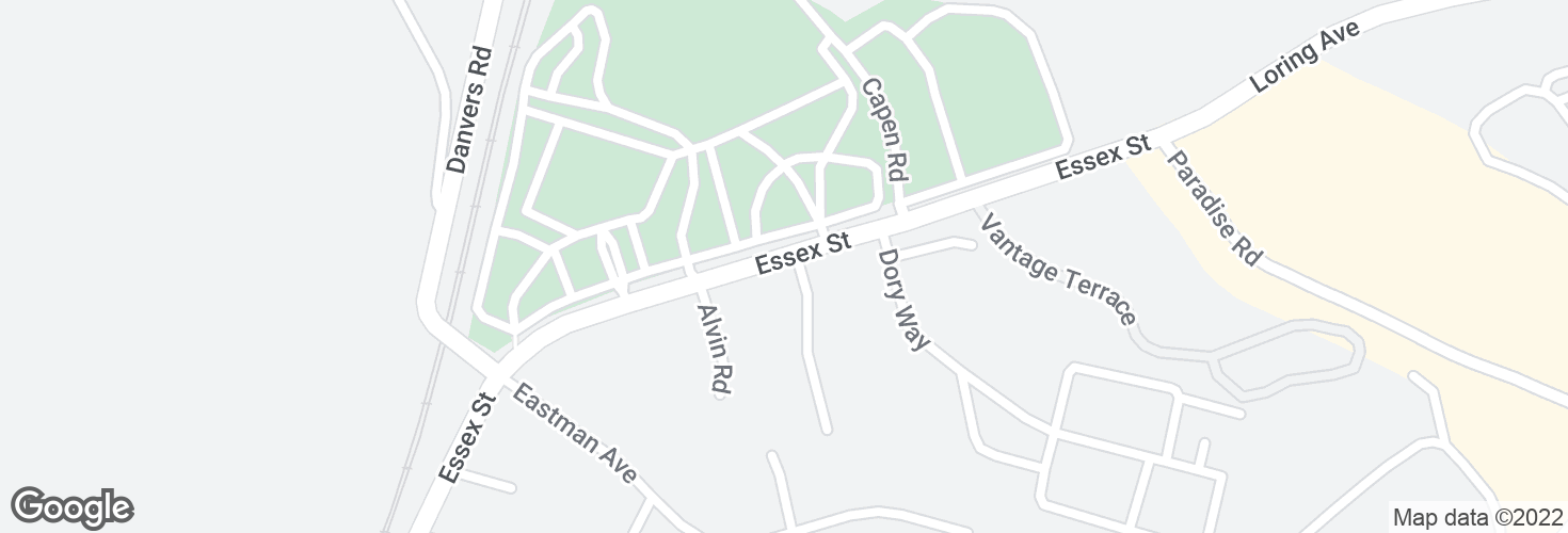 Map of Essex St @ Ryan Pl and surrounding area