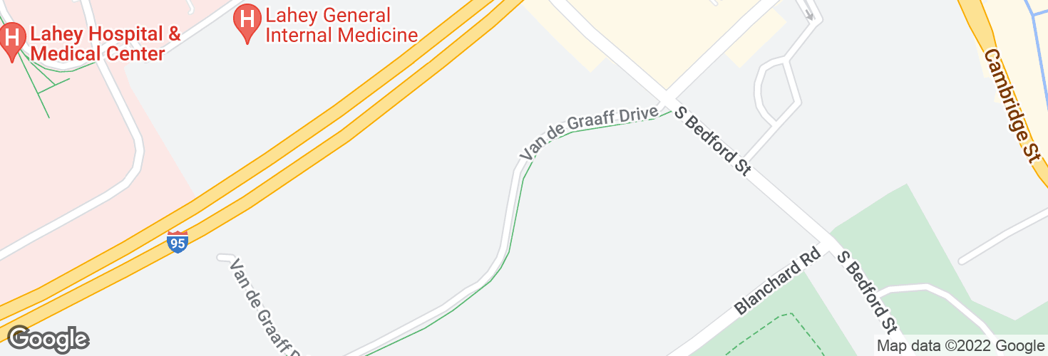 Map of Van De Graaff Dr @ Hyatt and surrounding area