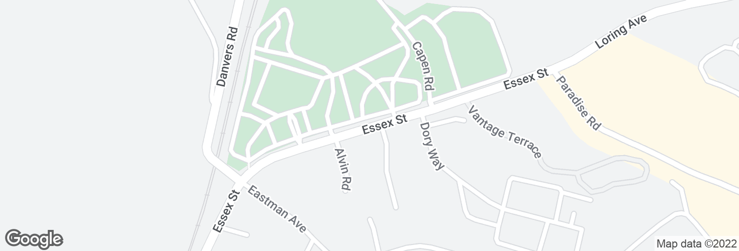 Map of Essex St opp Ryan Pl and surrounding area