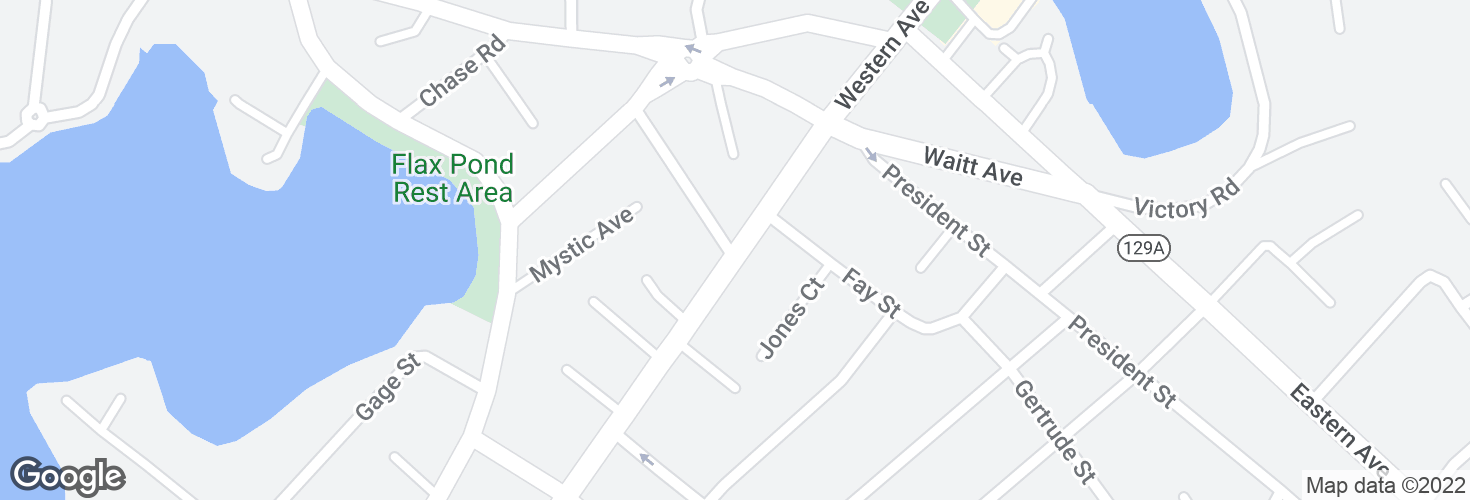 Map of Western Ave @ Brooklawn Terr and surrounding area