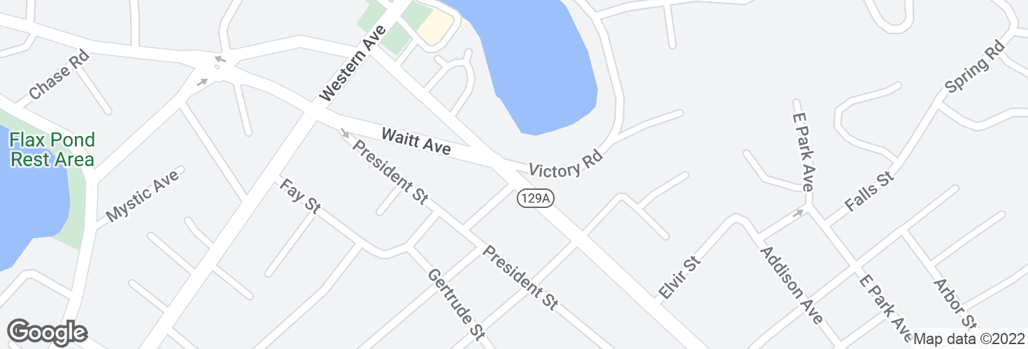 Map of Eastern Ave @ Victory Rd and surrounding area