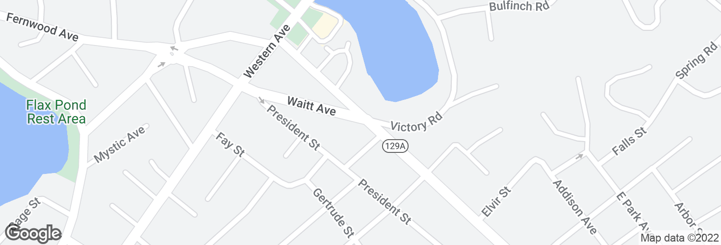 Map of Waitt Ave @ Eastern Ave and surrounding area