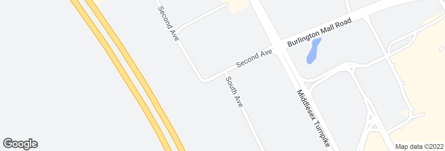Map of Second Ave @ South Ave and surrounding area