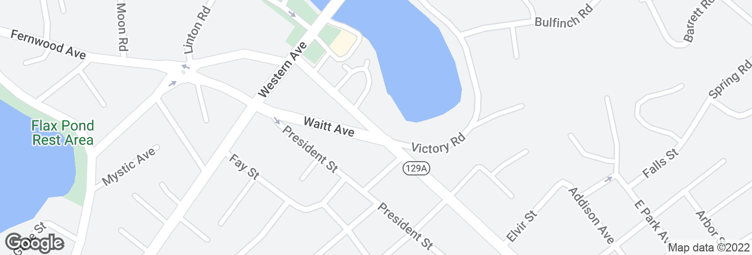 Map of Eastern Ave @ Waitt Ave and surrounding area
