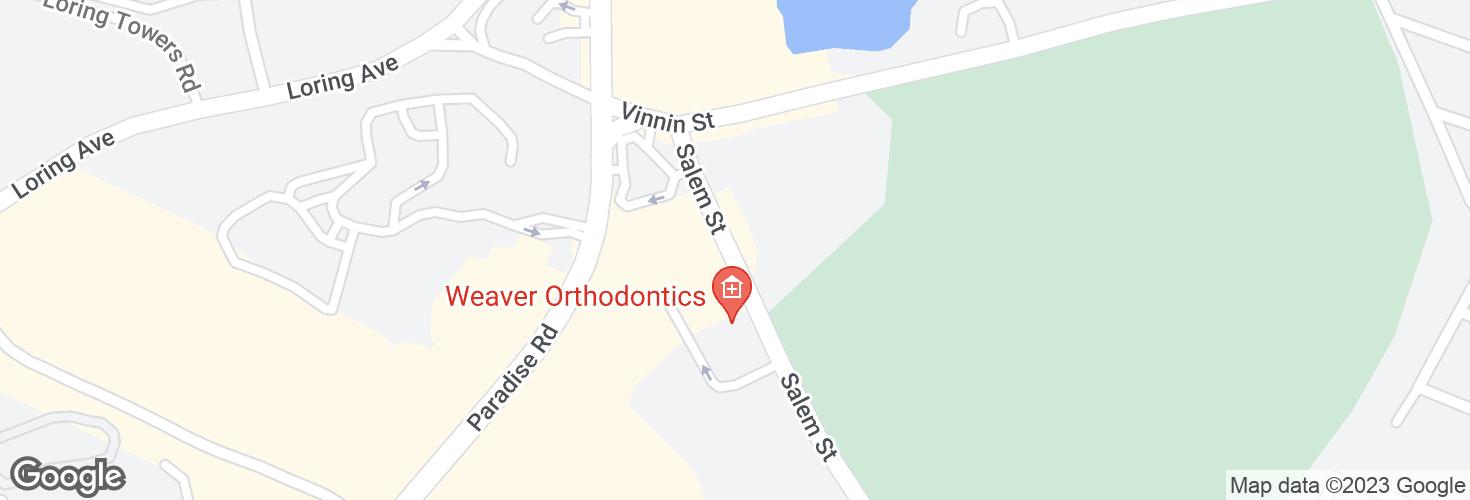 Map of Salem St @ Sunbeam Ln and surrounding area