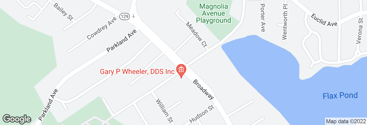 Map of Broadway @ Magnolia Ave and surrounding area