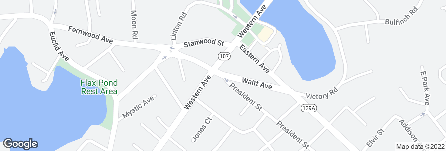 Map of Waitt Ave @ President St and surrounding area