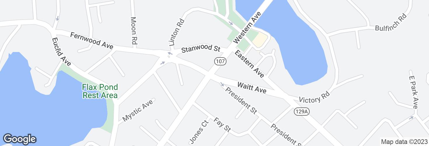Map of Western Ave @ Waitt Ave and surrounding area