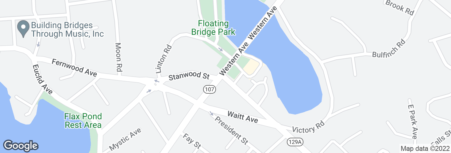 Map of Eastern Ave @ Western Ave and surrounding area