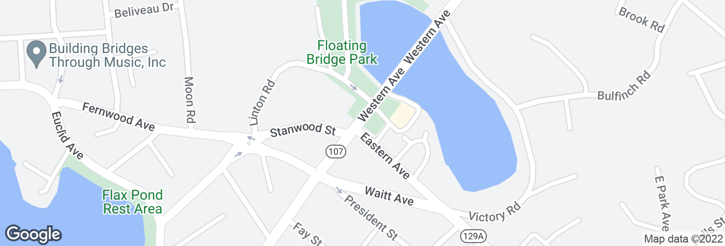 Map of Western Ave @ Eastern Ave and surrounding area