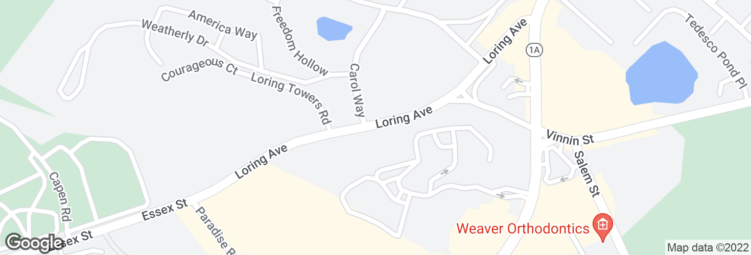 Map of Opp 1000 Loring Ave and surrounding area