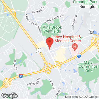 Map of Liberty Travel at 91 Middlesex Turnpike, Burlington, MA 01803