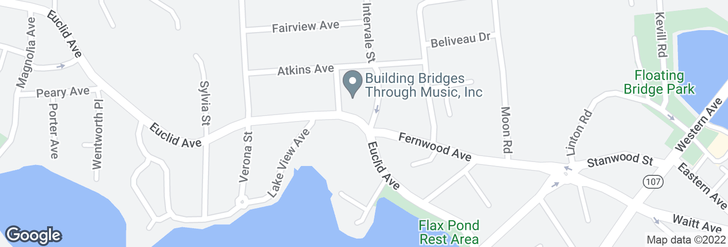 Map of Euclid Ave @ Clayton St and surrounding area
