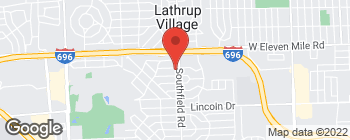 Map of 26647 Southfield Rd in Lathrup Village