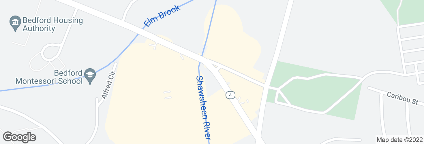Map of Great Rd opp Shawsheen Ave and surrounding area