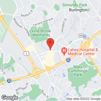 Map of Hair Cuttery at 86 Burlington Mall Road, Burlington, MA 01803