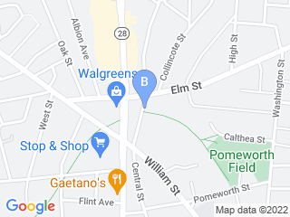 Map of Central Animal Hospital Dog Boarding options in Stoneham | Boarding