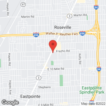 Map of Rite Aid at 25996 Gratiot Avenue, Roseville, MI 48066