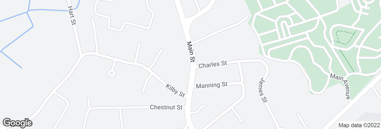 Map of Main St opp Charles St and surrounding area