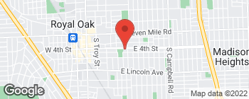 Map of 816 E 4th St in Royal Oak