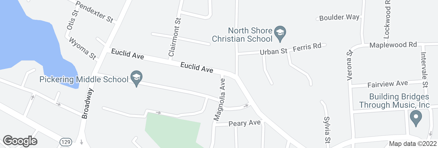 Map of Euclid Ave @ Magnolia Ave and surrounding area