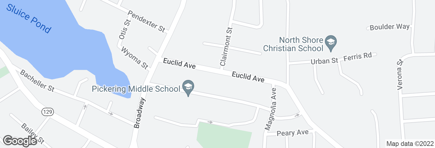 Map of Euclid Ave @ Clairmont St and surrounding area