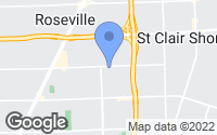 Map of Roseville, MI