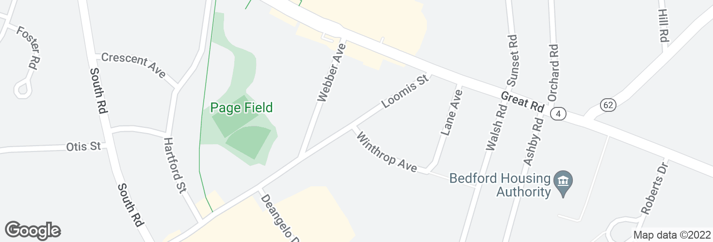 Map of Loomis St @ opp Winthrop Ave and surrounding area