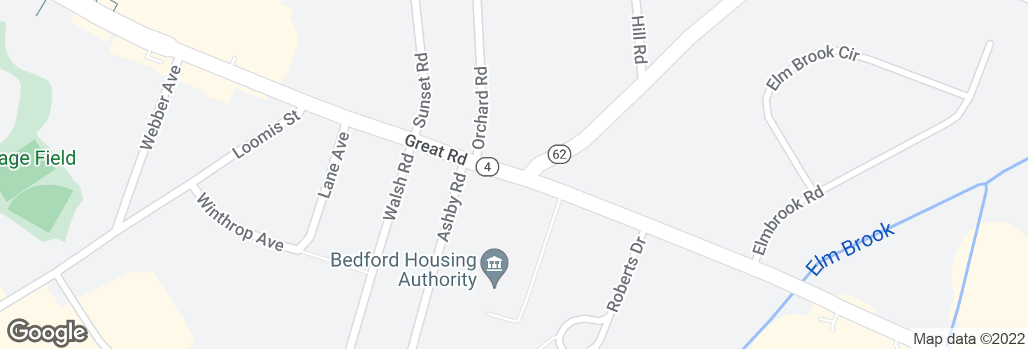 Map of Great Rd @ Brooksbie Rd and surrounding area