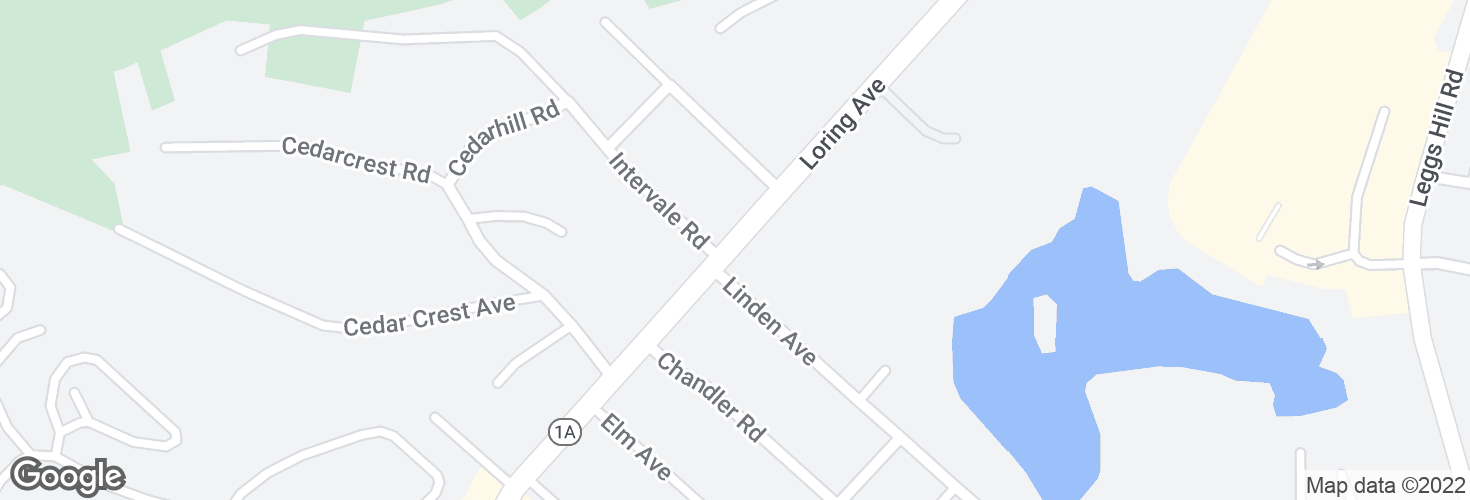 Map of Opp 494 Loring Ave and surrounding area