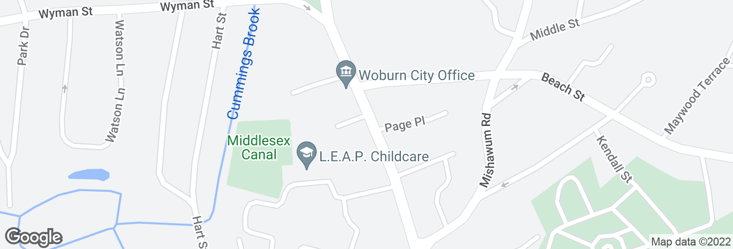 Map of Main St @ Charles Gardner Ln and surrounding area
