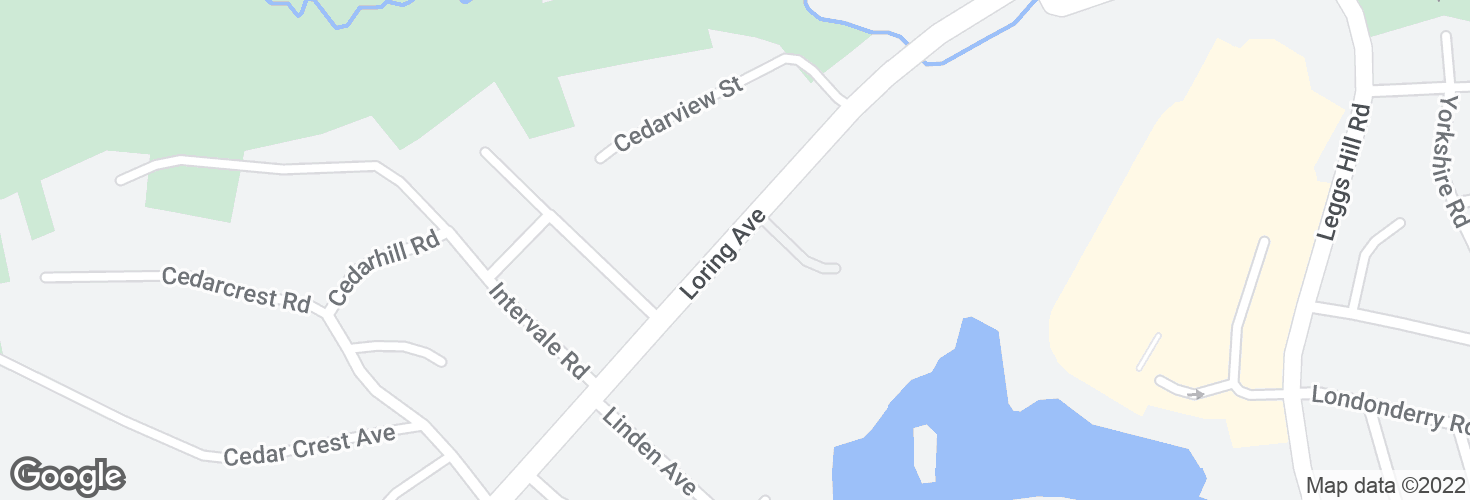 Map of Opp 446 Loring Ave and surrounding area