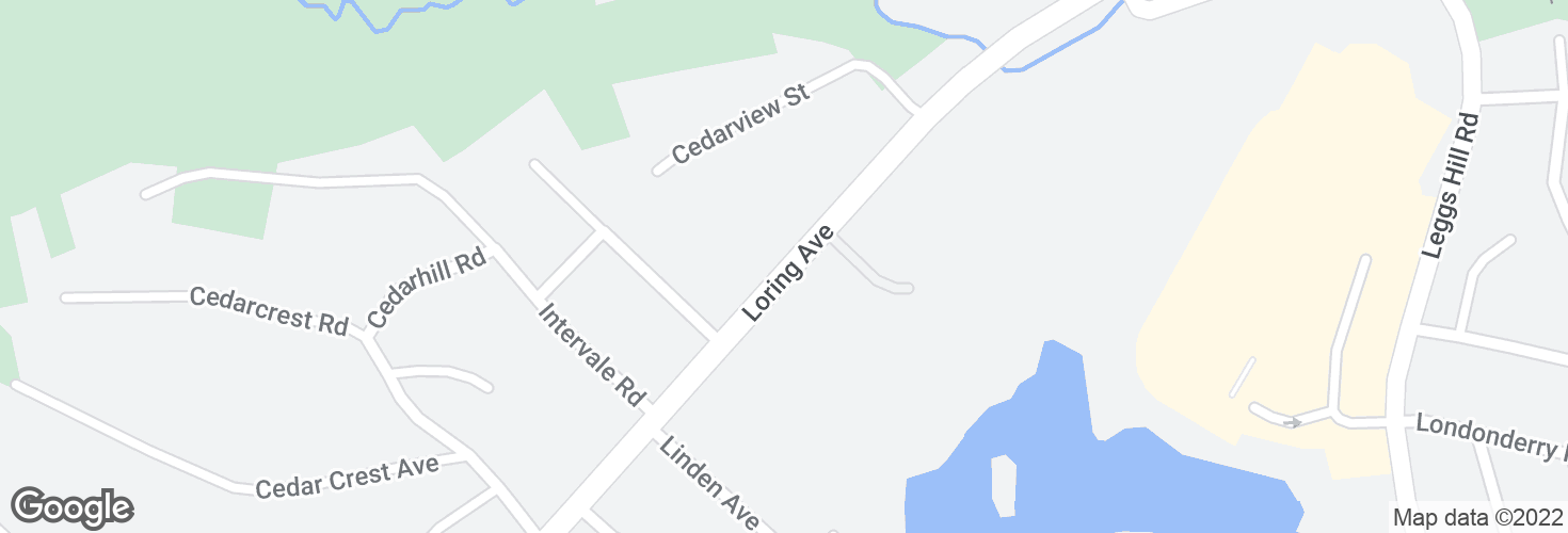 Map of 446 Loring Ave and surrounding area