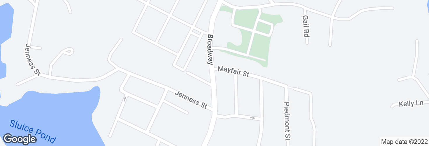 Map of Broadway @ Mayfair St and surrounding area