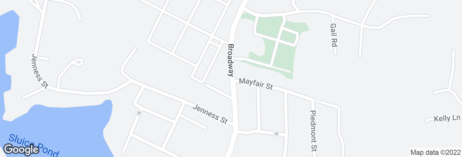 Map of Broadway opp Mayfair St and surrounding area