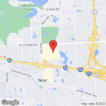 Map of BCBGMAXAZRIA at 27702 Novi Rd, Novi, MI 48377
