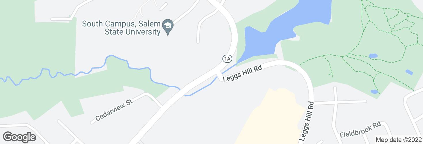 Map of Loring Ave opp Leggs Hill Rd and surrounding area