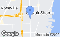 Map of Saint Clair Shores, MI