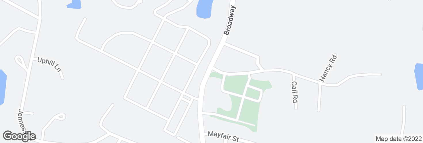 Map of Broadway @ Commonwealth Rd and surrounding area