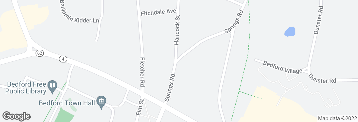 Map of Springs Rd @ Hancock St and surrounding area