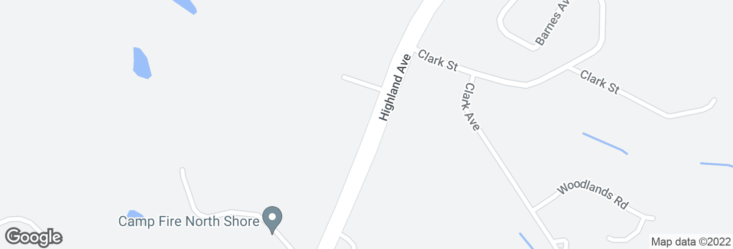 Map of Highland Ave @ Walmart and surrounding area