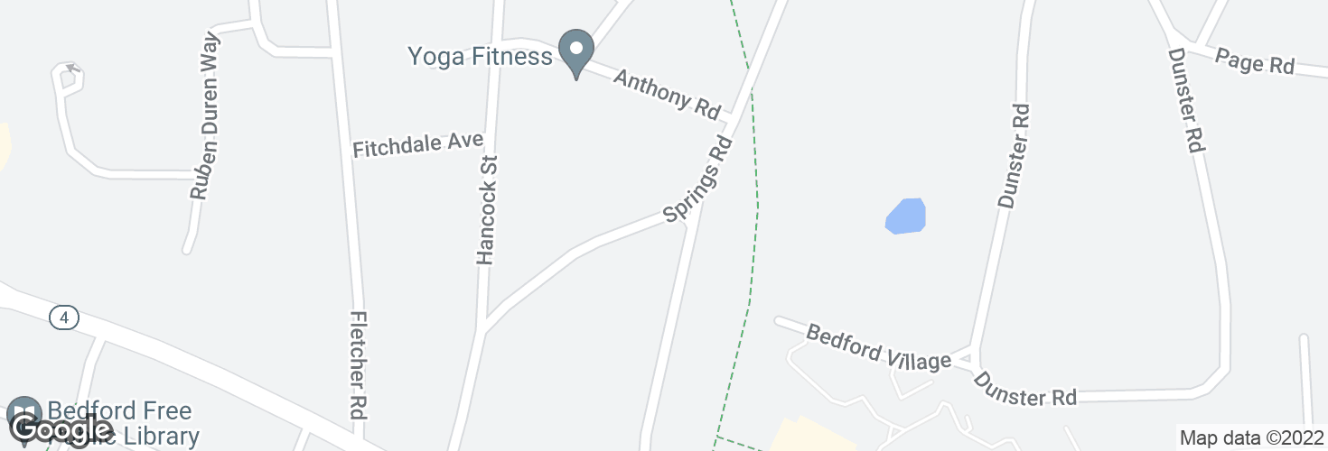 Map of Springs Rd @ Hillside Ave and surrounding area