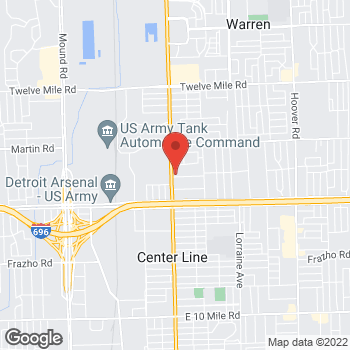 Map of Arby's at 27400 Van Dyke Ave, Warren, MI 48093-2804
