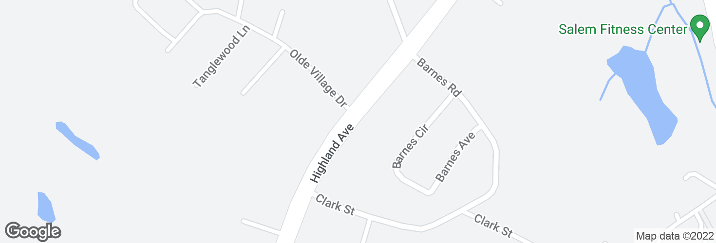 Map of Highland Ave opp Olde Village Dr and surrounding area